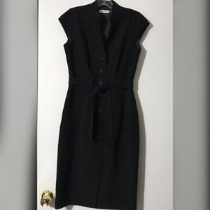 Calvin Klein black button up dress sz 4